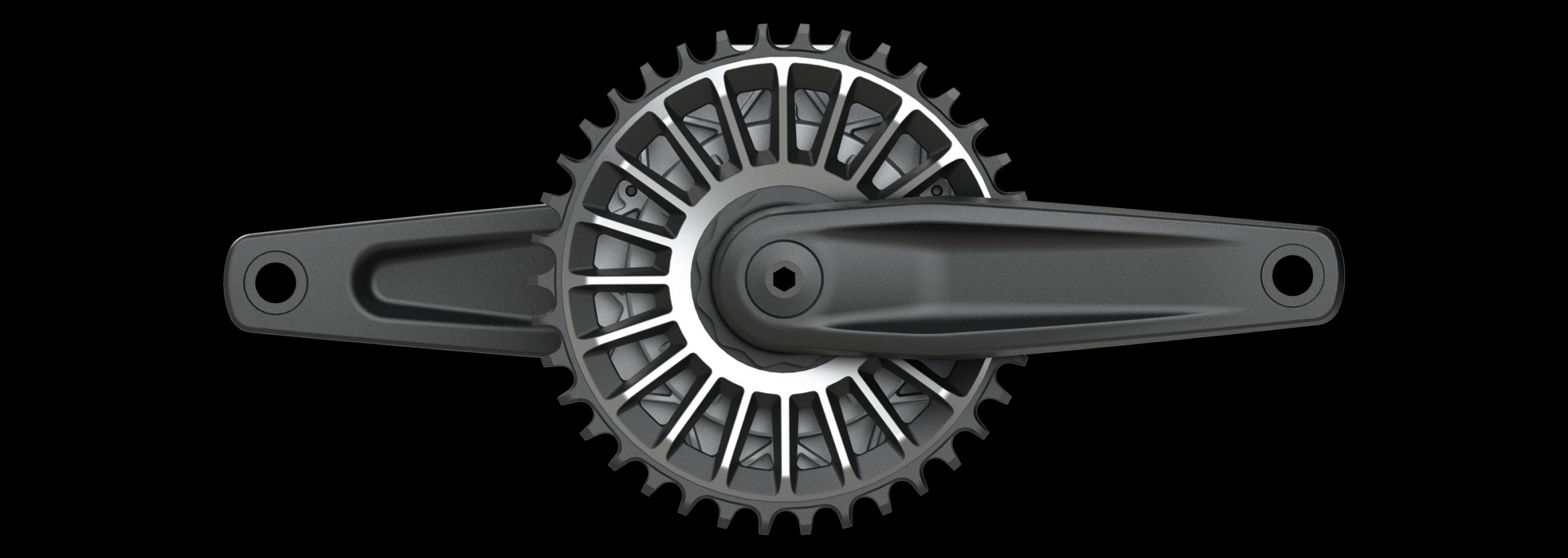 The Haibike chain wheel